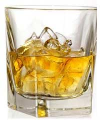 a whiskey-glass