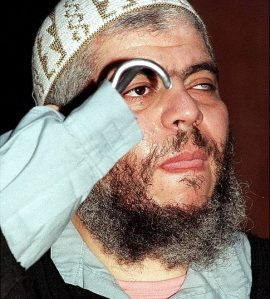fundamentalist Muslim cleric Sheikh Abu Hamza, head of religious and political affairs for the Supporters of Sharia,