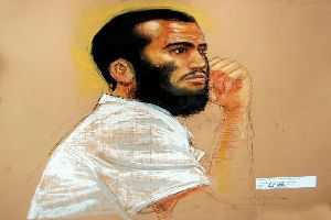 Khadr-attending-a-hearing-at-Guantanamo-Bay