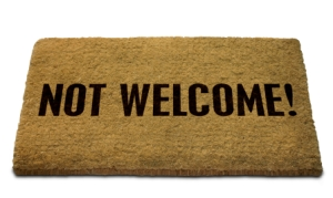 Not Welcome! Doormat