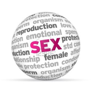 sex-word-sphere-on-white-background