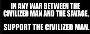 civilised man v savage