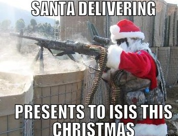 santa-delivering-presents-to-isis-this-christmas
