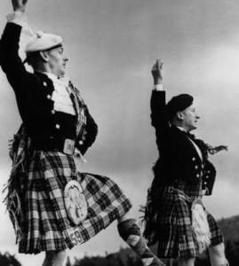 male scots dancers