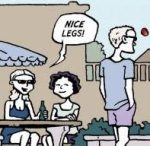 Nice legs! They're taking the p*ss...maybe they're not. Maybe they mean it...