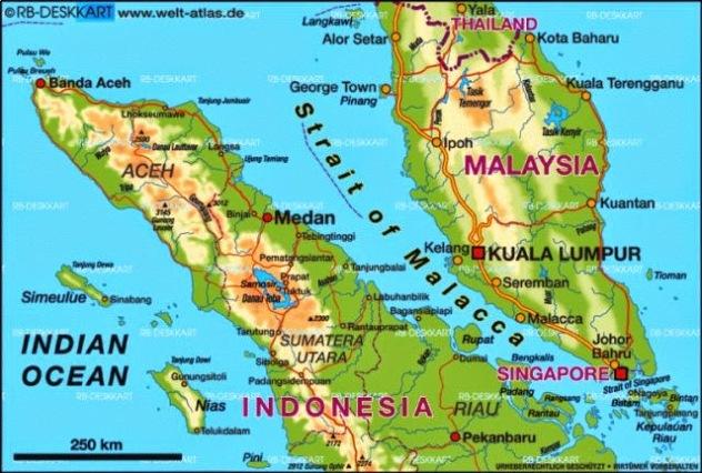 Hasil gambar untuk straits of malacca map