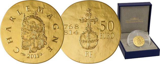 Hasil gambar untuk charlemagne european union coin