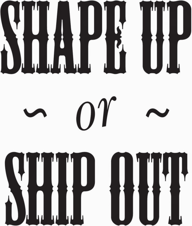 Image result for shape up or ship out idiom