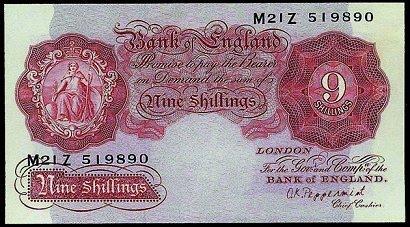 Image result for nine bob note